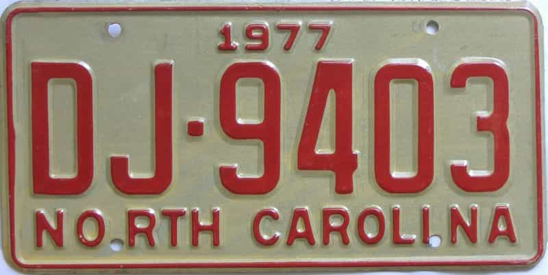 1977 North Carolina  (Truck) license plate for sale