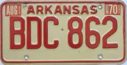 1970 Arkansas license plate for sale