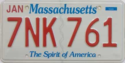 Massachusetts (Single) license plate for sale