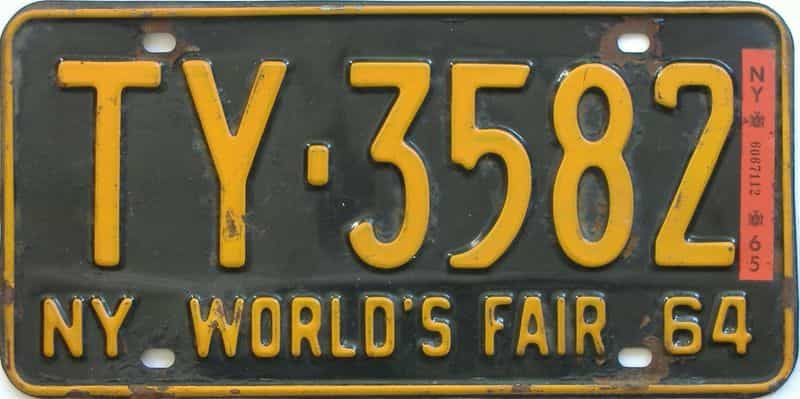 1965 New York license plate for sale