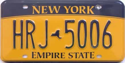 New York  (Single) license plate for sale