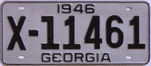 YOM RESTORED 1946 Georgia license plate for sale