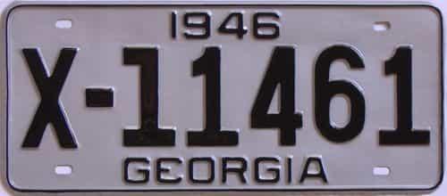 YOM RESTORED 1946 Georgia license plate for sale