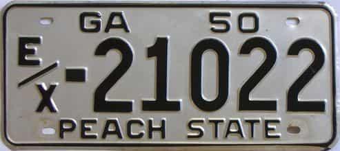 YOM 1950 Georgia license plate for sale