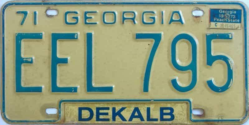 YOM 1973 Georgia license plate for sale