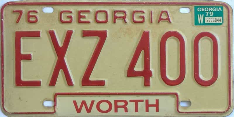 YOM 1979 Georgia  (Natural) license plate for sale