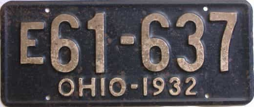 1932 Ohio (Single) license plate for sale