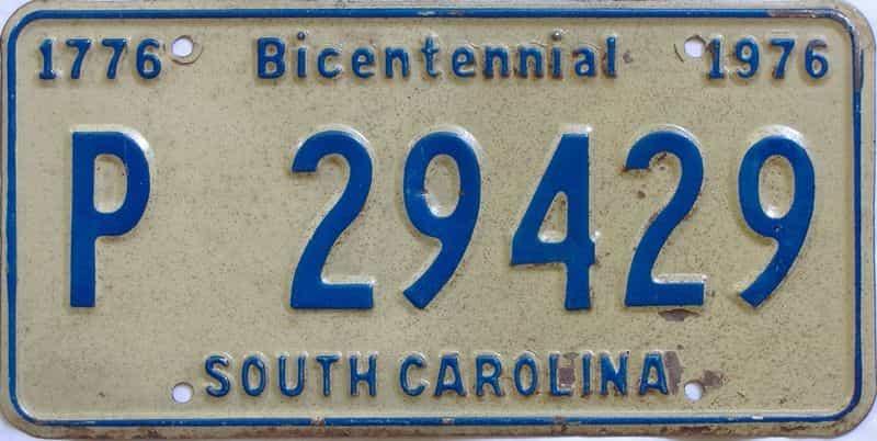 1976 South Carolina license plate for sale