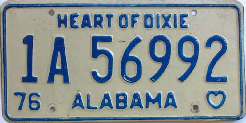 1976 Alabama license plate for sale