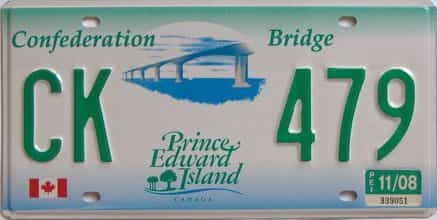 2008 PEI (Natural) license plate for sale