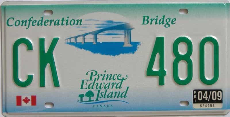2009 PEI (Natural) license plate for sale