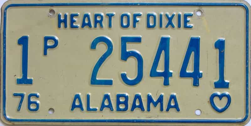 1976 Alabama  (Truck) license plate for sale
