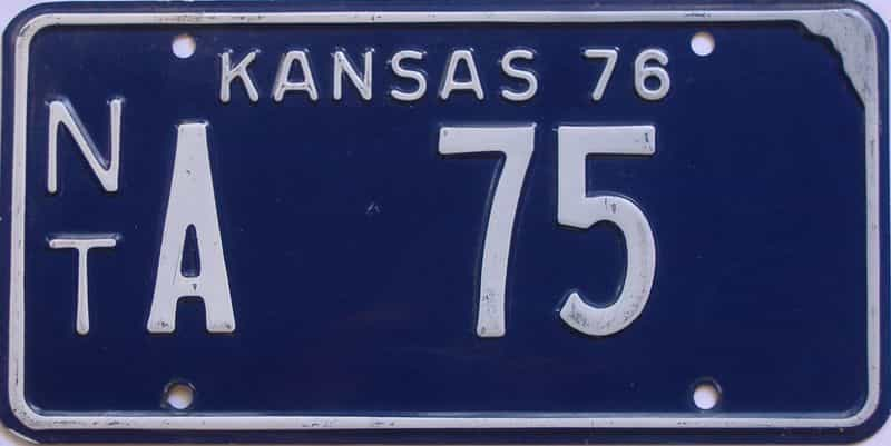 1976 Kansas license plate for sale