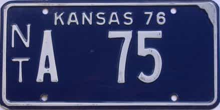1976 Kansas license plate for sale
