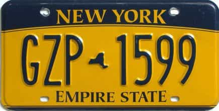 New York license plate for sale