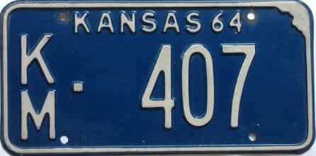 1964 Kansas license plate for sale