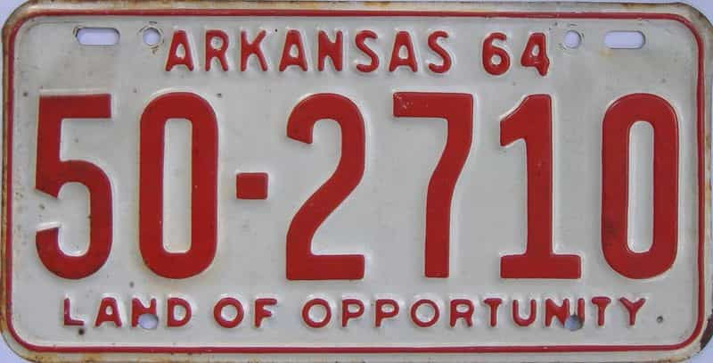 1964 Arkansas license plate for sale