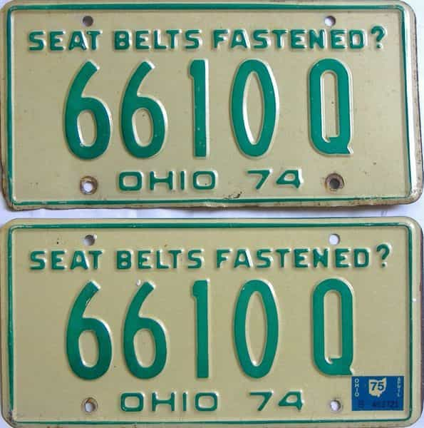 1975 Ohio  (Pair) license plate for sale