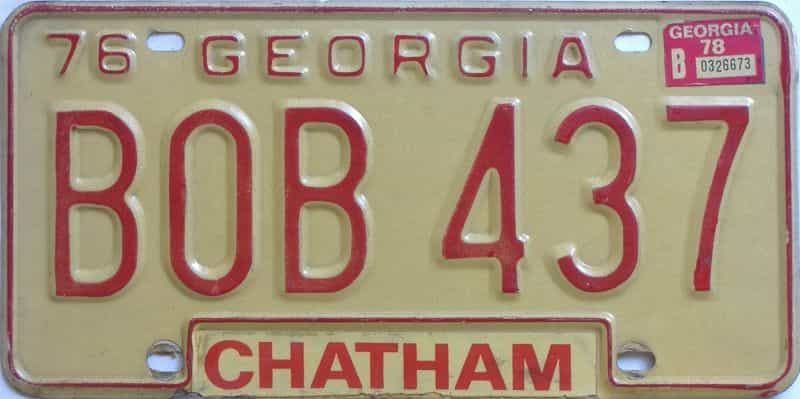 YOM 1978 Georgia YOM 1971 - 1989 license plate for sale