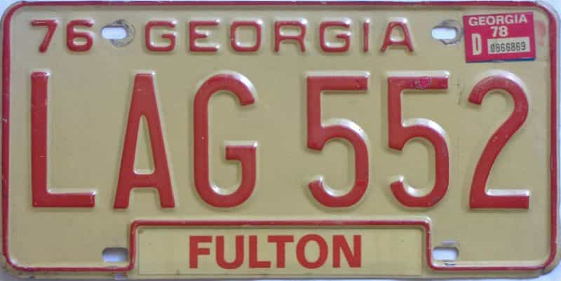 YOM 1978 Georgia license plate for sale
