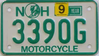 New Hampshire  (Motorcycle) license plate for sale