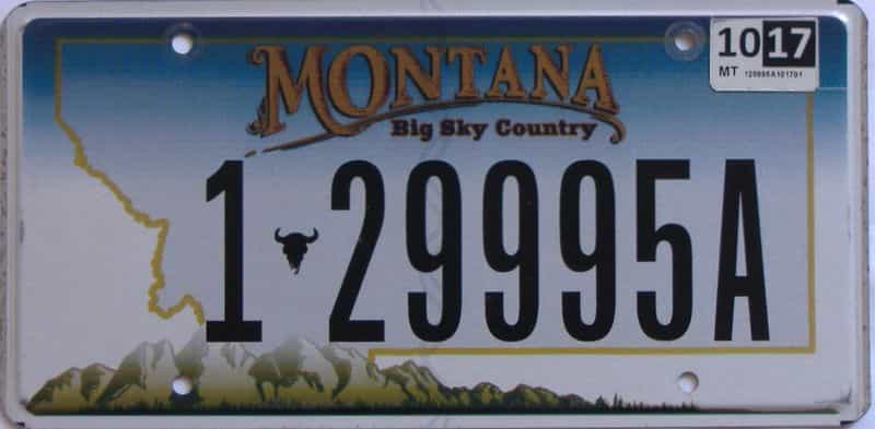 2017 Montana (Single) license plate for sale