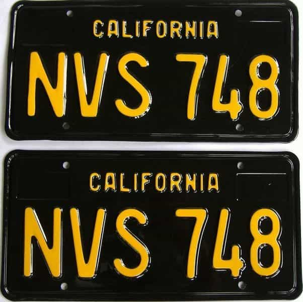 RESTORED 1963 California  (DMV NOT CLEAR) license plate for sale
