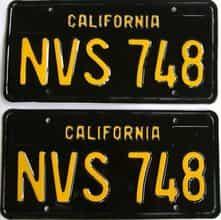 RESTORED 1963 California  (DMV NOT CLEAR) license plate for sale