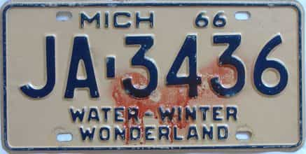 1966 Michigan license plate for sale