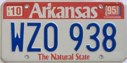 1995 Arkansas license plate for sale