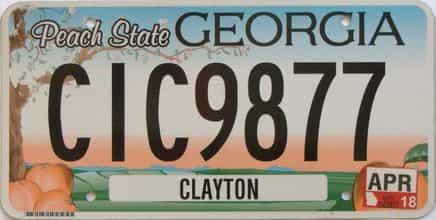 2018 Georgia license plate for sale