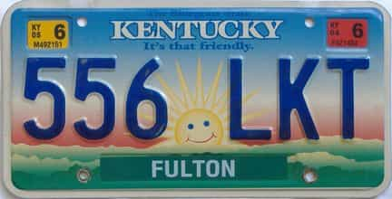 2005 Kentucky license plate for sale