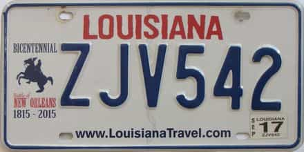 2017 Louisiana  (Natural) license plate for sale