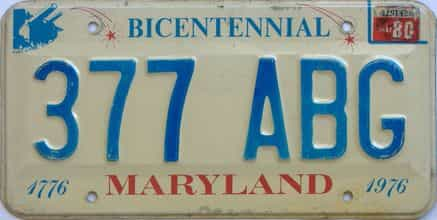 1980 Maryland (Single) license plate for sale