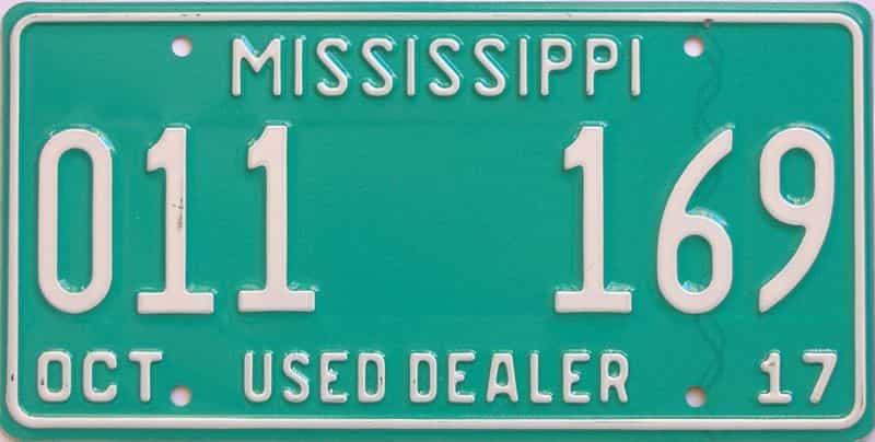 2017 Mississippi (Dealer) license plate for sale