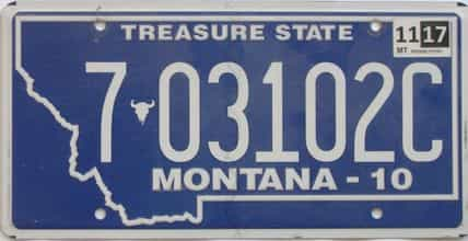 2017 Montana (Natural Single) license plate for sale