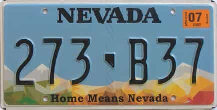 2018 Nevada (Natural Single) license plate for sale