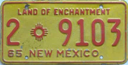 1965 New Mexico license plate for sale