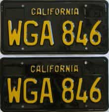RESTORED 1963 California  (Pair) license plate for sale