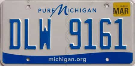 2018 Michigan (Natural) license plate for sale