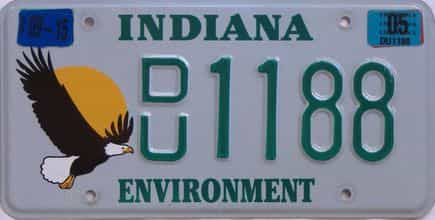 2005 Indiana license plate for sale