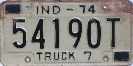 1974 Indiana (Truck) license plate for sale