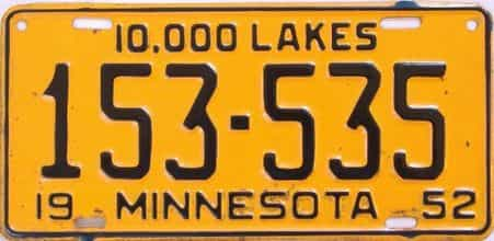 1952 Minnesota license plate for sale