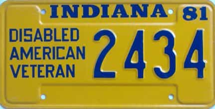 1981 Indiana license plate for sale