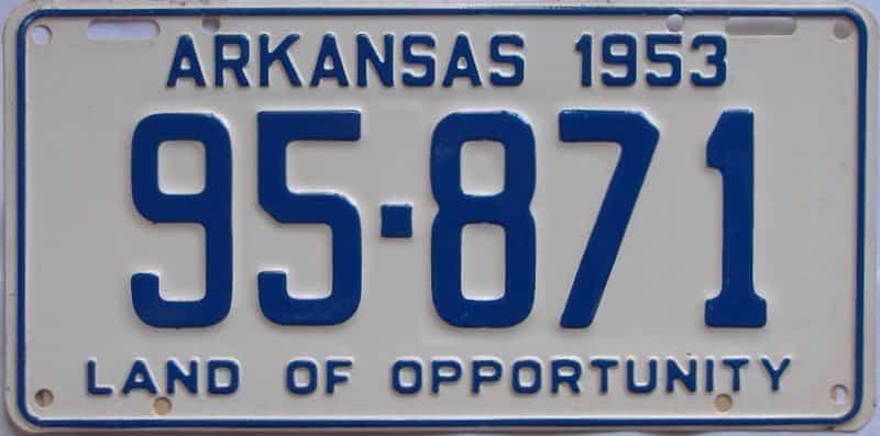 1953 Arkansas license plate for sale