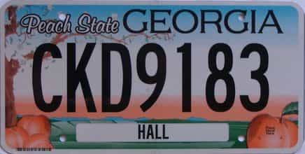 Georgia license plate for sale