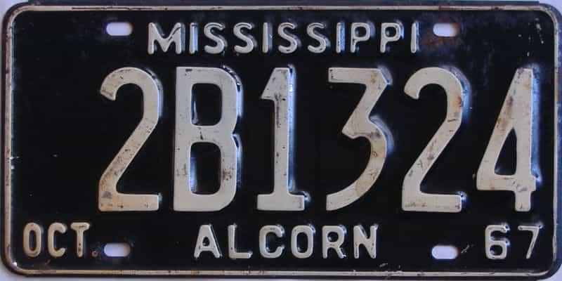 1967 Mississippi license plate for sale