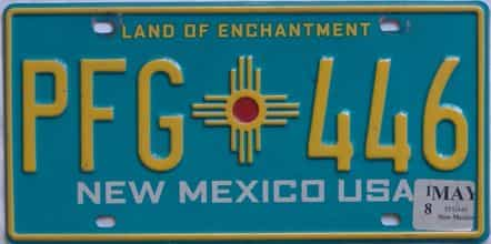 2018 New Mexico (Natural) license plate for sale