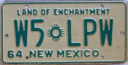1964 New Mexico (Non Passenger) license plate for sale