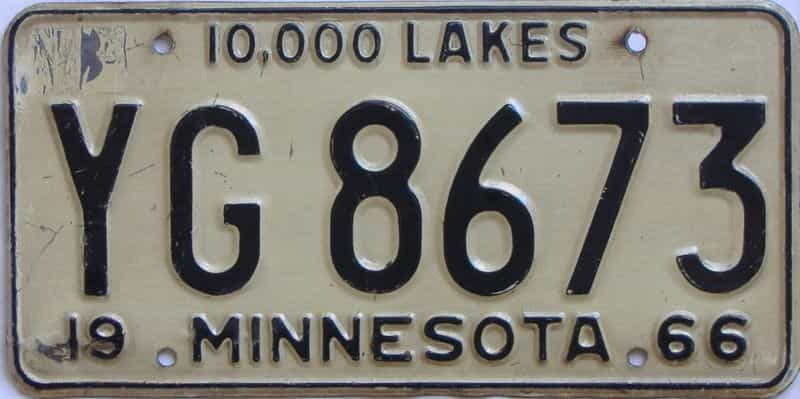 1966 Minnesota (Truck) license plate for sale